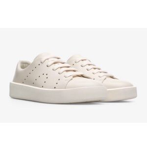 Camper Courb Sneakers, Leather, Cream White Color